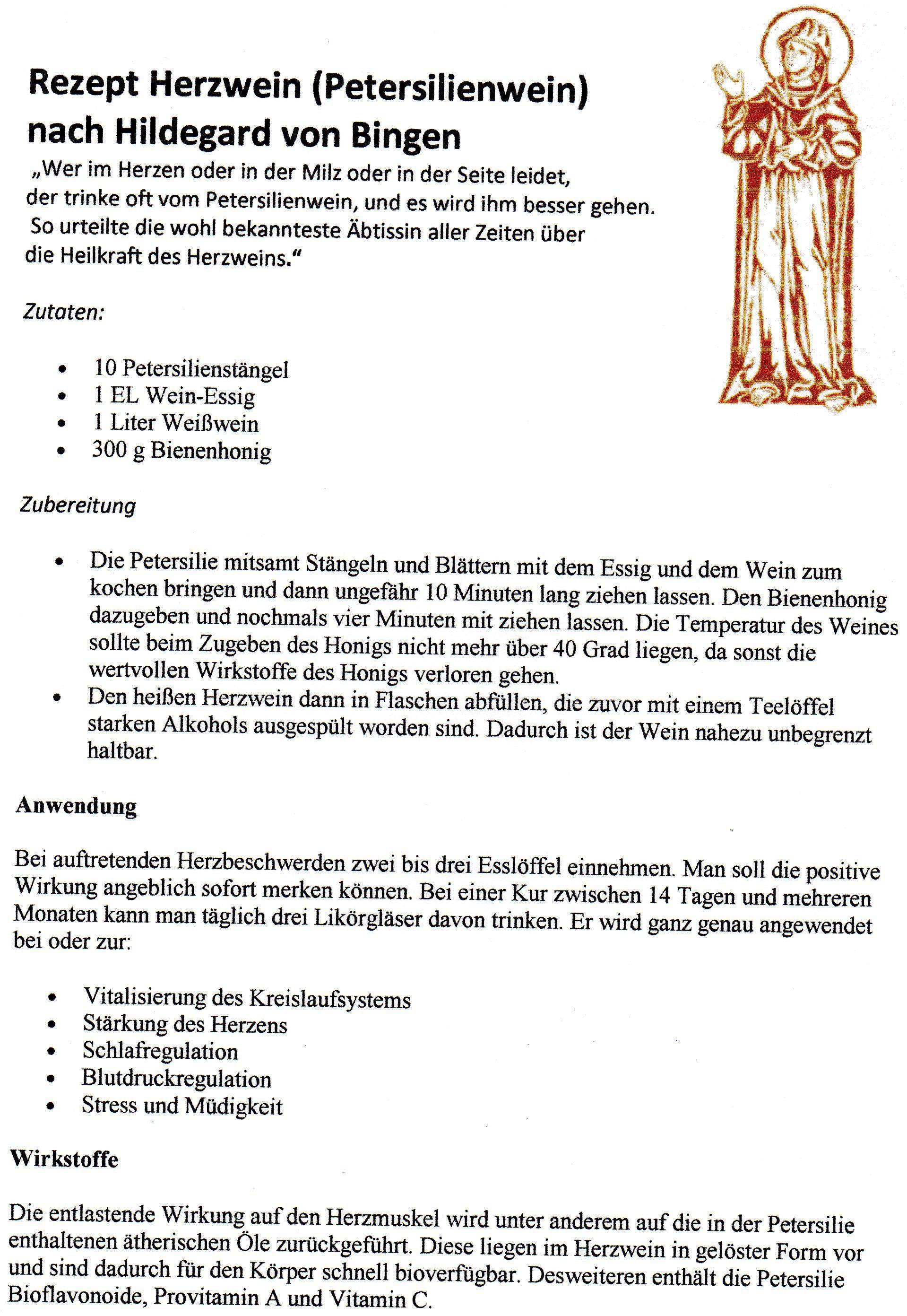 Herzwein Hildegard Von Bingen
