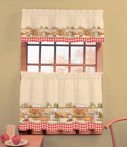 Ordinaire Chefs   24u0027u0027 Tier (pr) Kitchen Curtain By Annau0027s Linens. $10.99