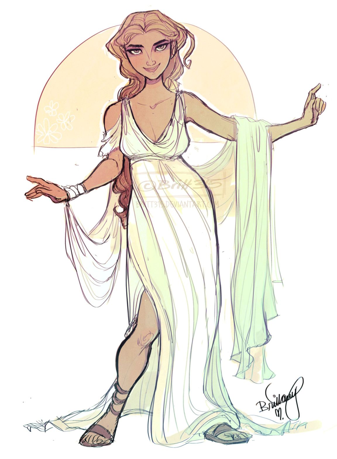 how to draw aphrodite with clothes on
