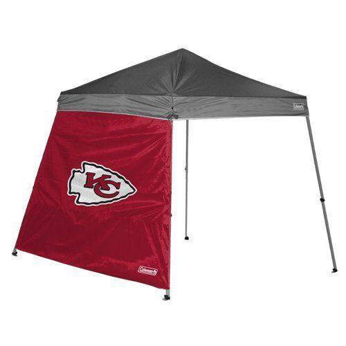 Nfl Kansas City Chiefs 10 X 10 Feet Slant Leg Canopy Wall