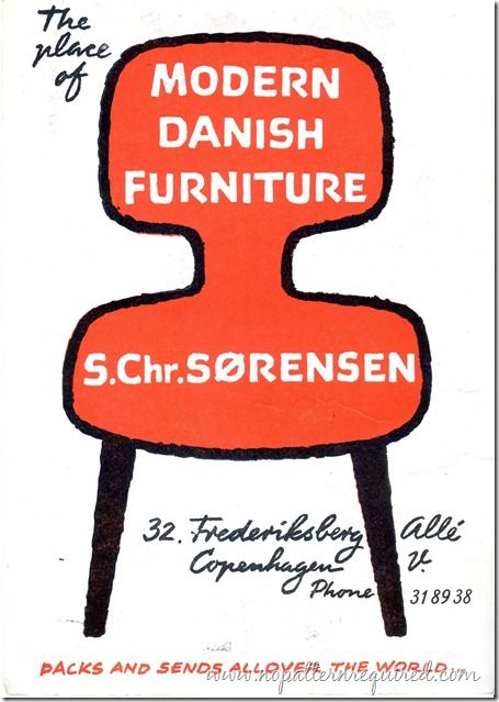 S.Chr.Sorensen - The Place of Modern Danish Furniture    1969