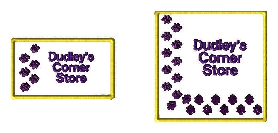 Dudley Corner Store - custom logo for LP - custom embroidery design