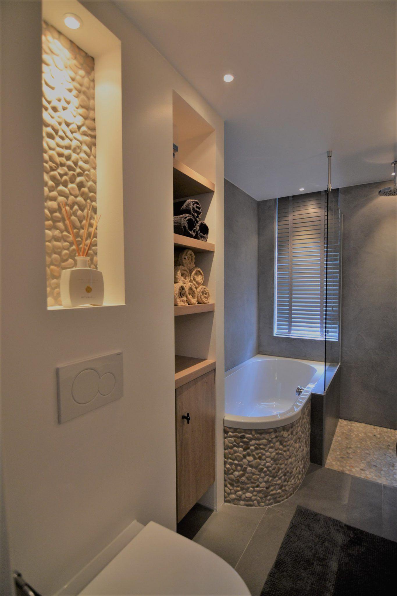 3D impressie badkamer Na presentatie van het ontwerp, moodboard, de ...