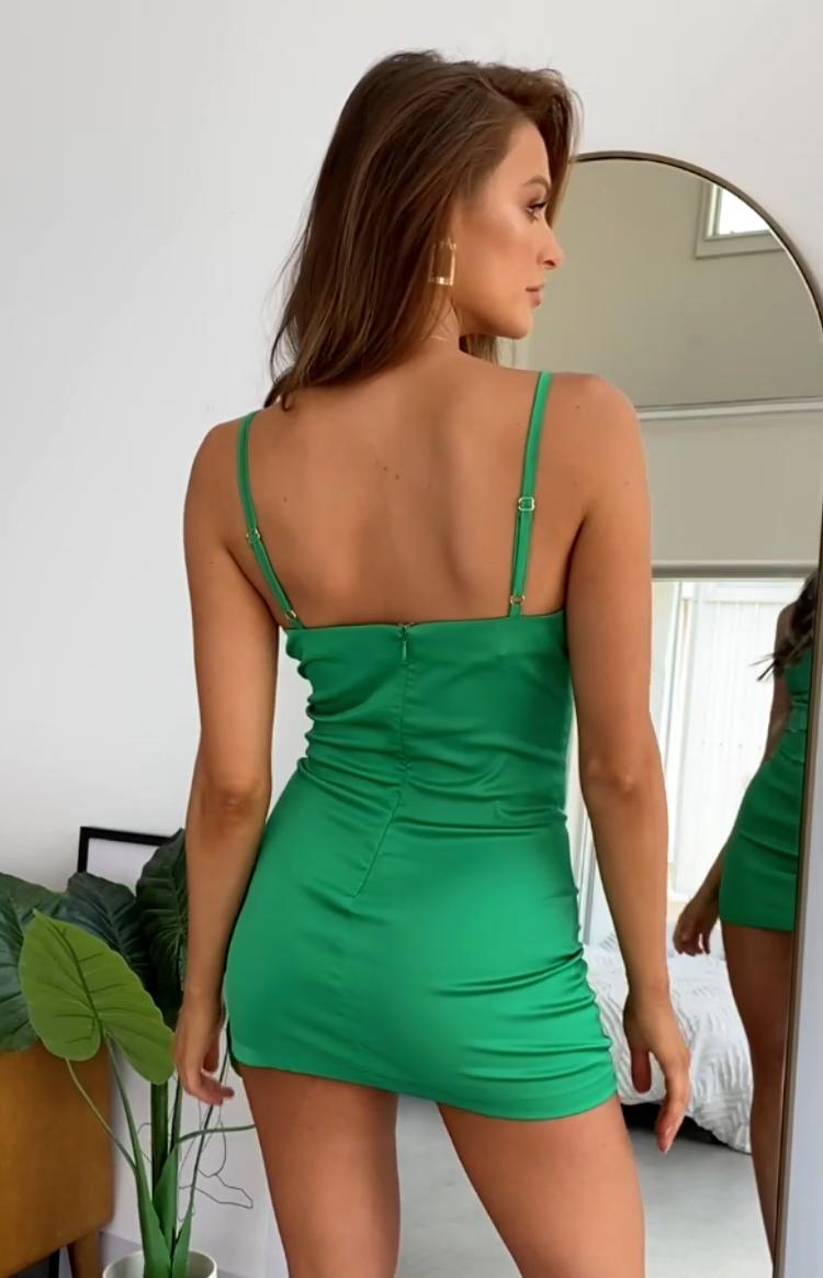 Aluna Slip Dress Jade – 4