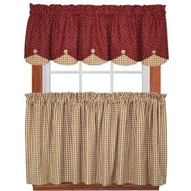 Rustic Country Kitchen Curtains Photo   6