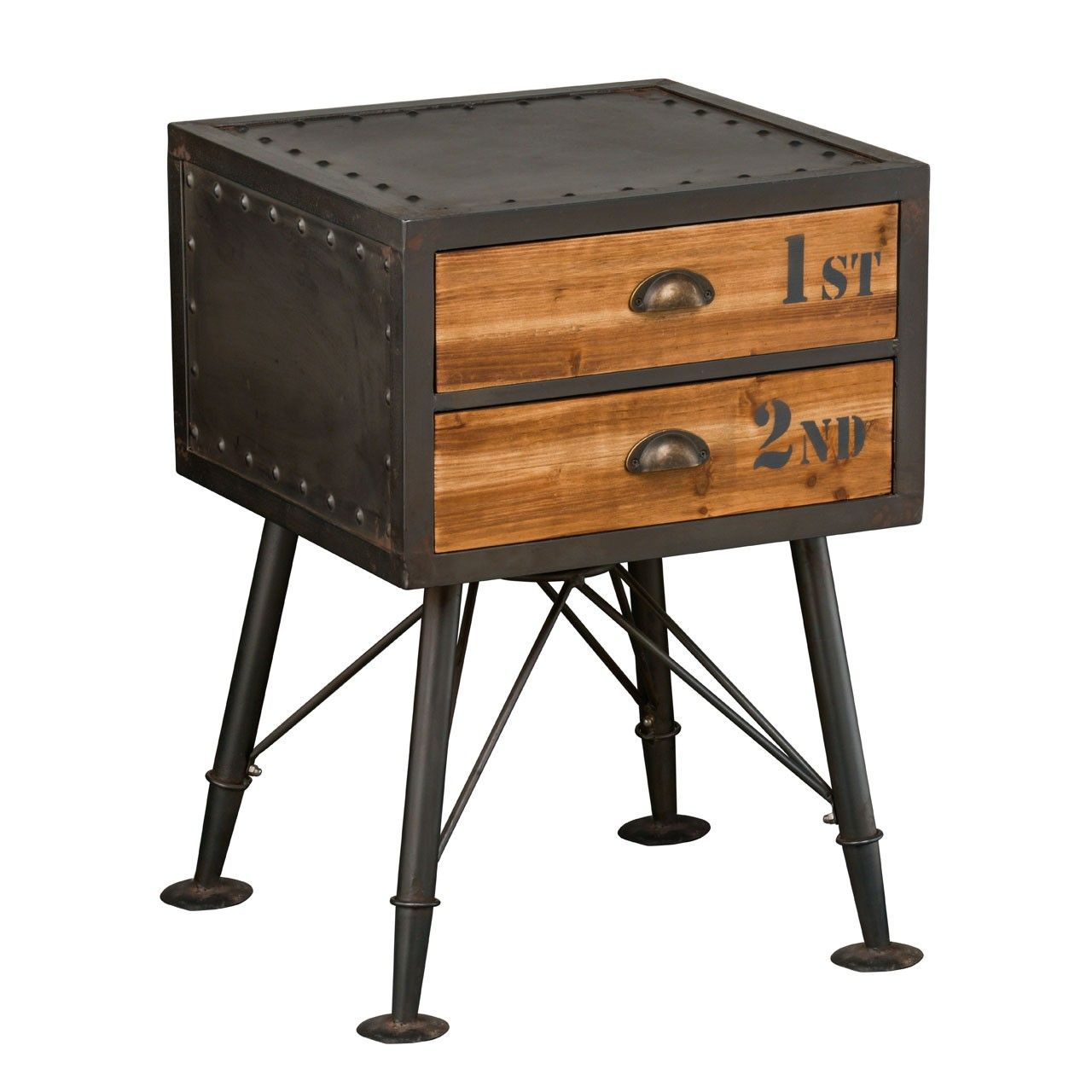 Image result for industrial nightstand table Industrial