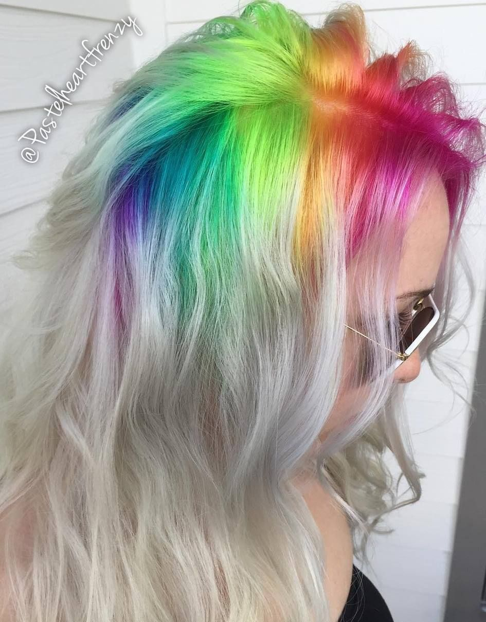 Image result for Rainbow hair roots