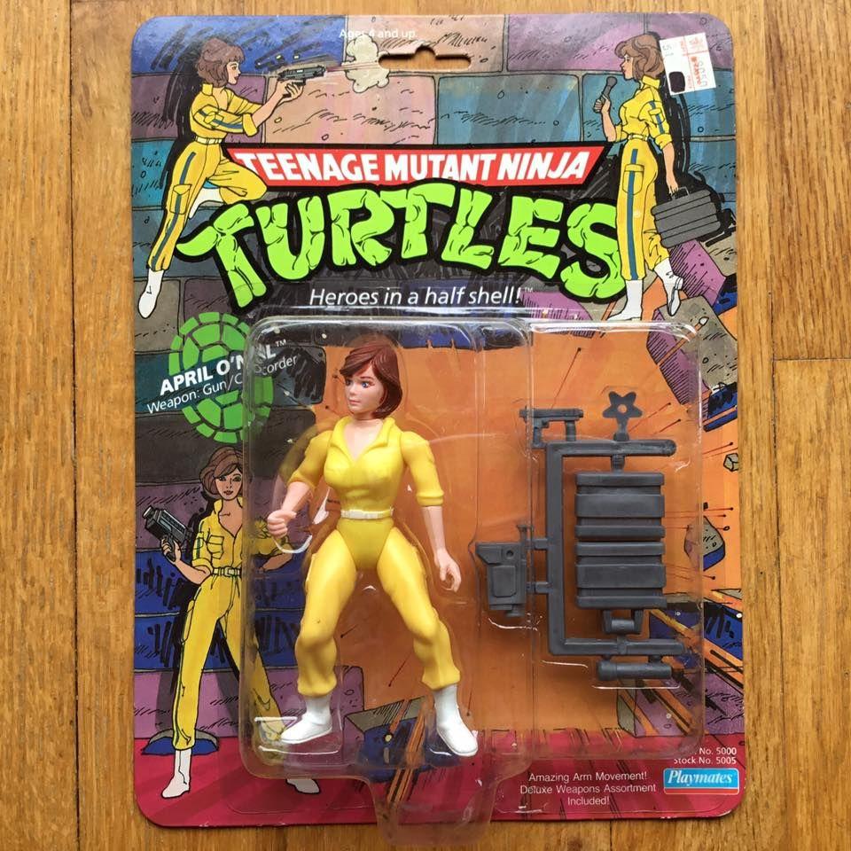 Teenage Mutant Ninja Turtles April ONeil Original 1988 with Blue Stripe