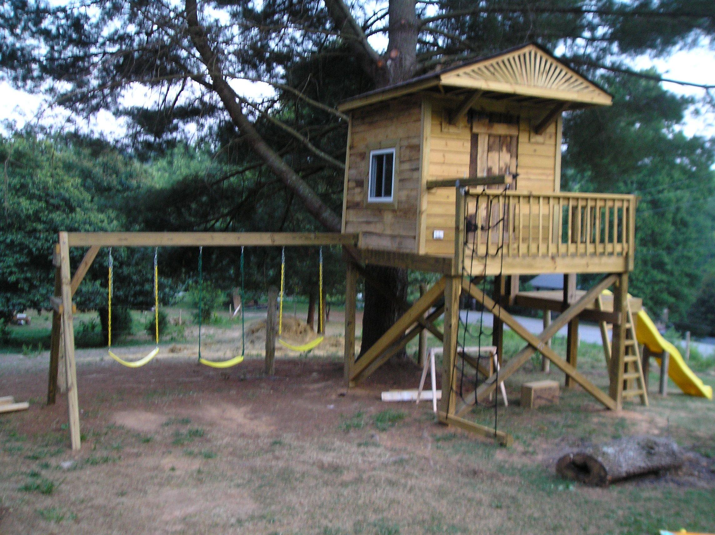 Kids Treehouse   Tree house kids, Backyard treehouse
