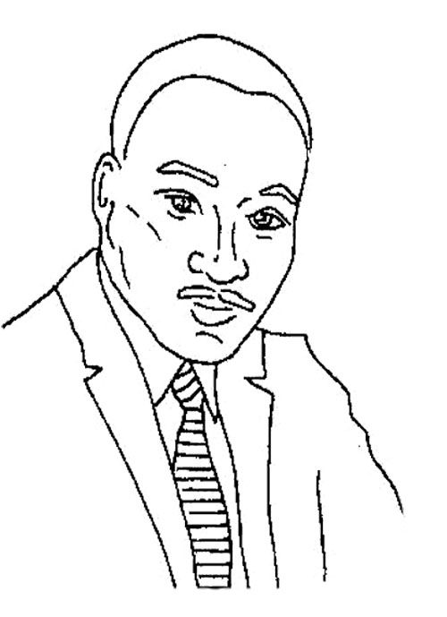 Biography Martin Luther King Coloring Page   Kids Coloring Pages ...