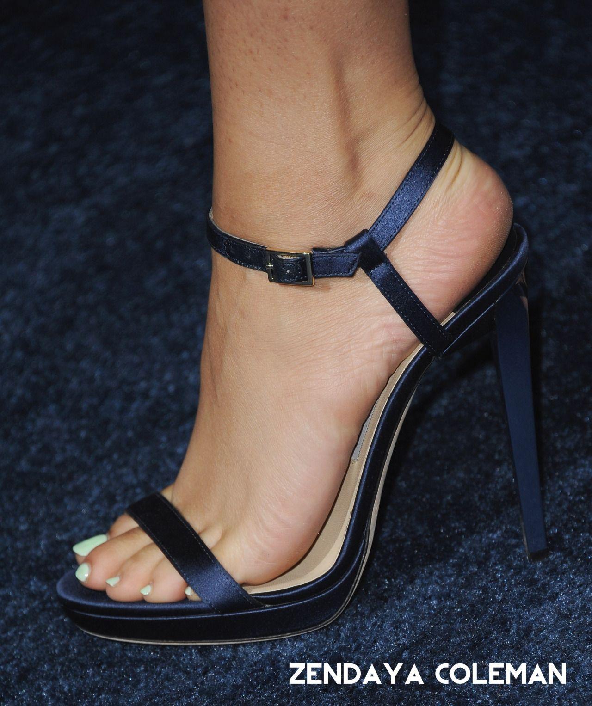 Zendaya Coleman Feet Blu Tacchi Alti 913b3fde19a