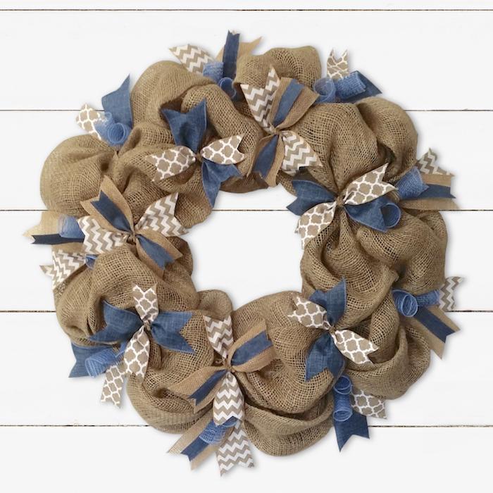 Photo of Burlap & Chambray Denim Wreath