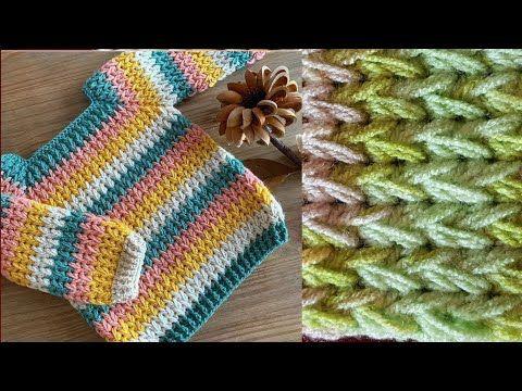 طريقة عمل غرزة كروشيه رجل الطائر لشغل كوفية سكارف شال بطانية جاكيت شنطة بطريقة سهلة للمبتدئات Youtube Crochet Headband Crochet Videos Crochet Bag