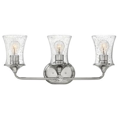 Hinkley lighting thistledown 3 light vanity light finish polished nickel shade color