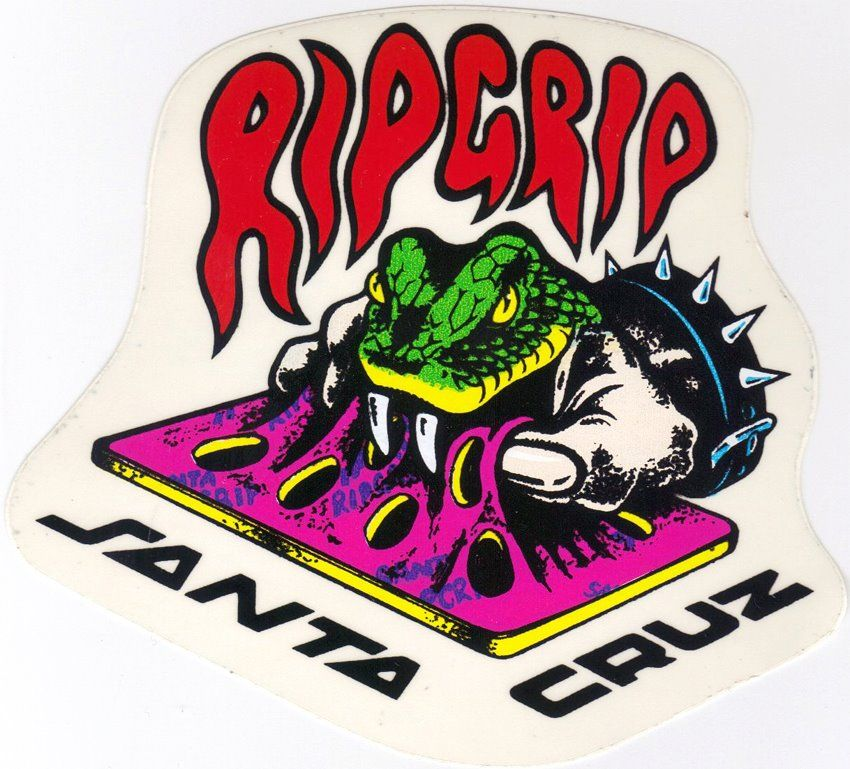 Santa cruz rip grip sticker