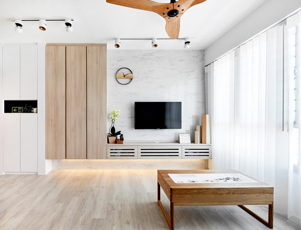 Check Out This Scandinavian Style Hdb Living Room And Other Similar Styles On Qanvast Living Room Scandinavian Feature Wall Living Room Living Room Tv Wall