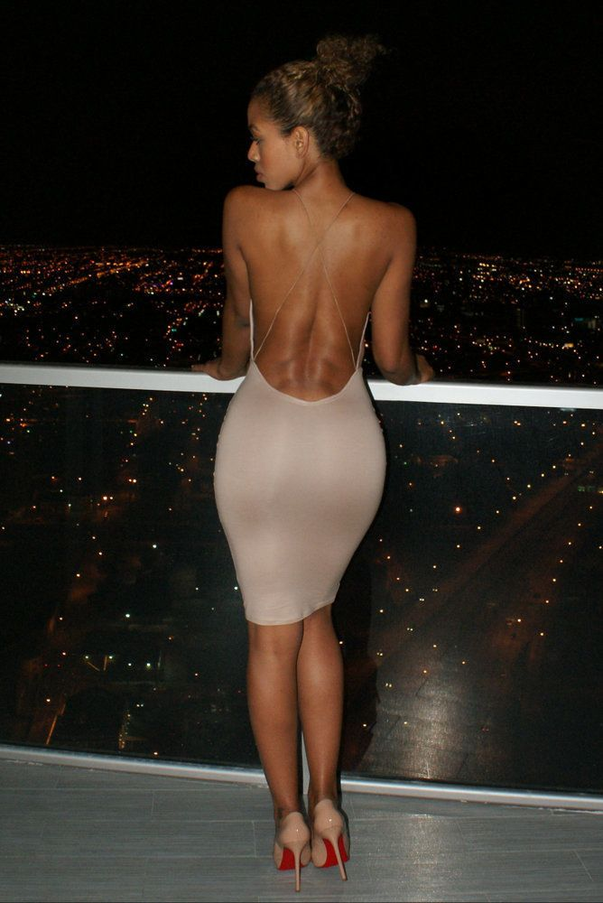 3c91537e65 Super sexy Backless Package hip bandage dress low cut deep v neck Tight  Harness nightclub party dress Summer Bodycon vestidos купить на AliExpress