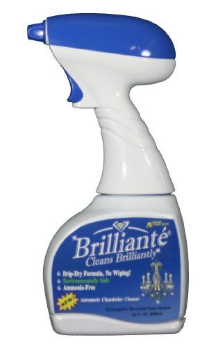 Brilliante crystal chandelier cleaner power sprayer 32oz brilliante crystal chandelier cleaner power sprayer 32oz environmentally safe ammonia free drip mozeypictures Choice Image
