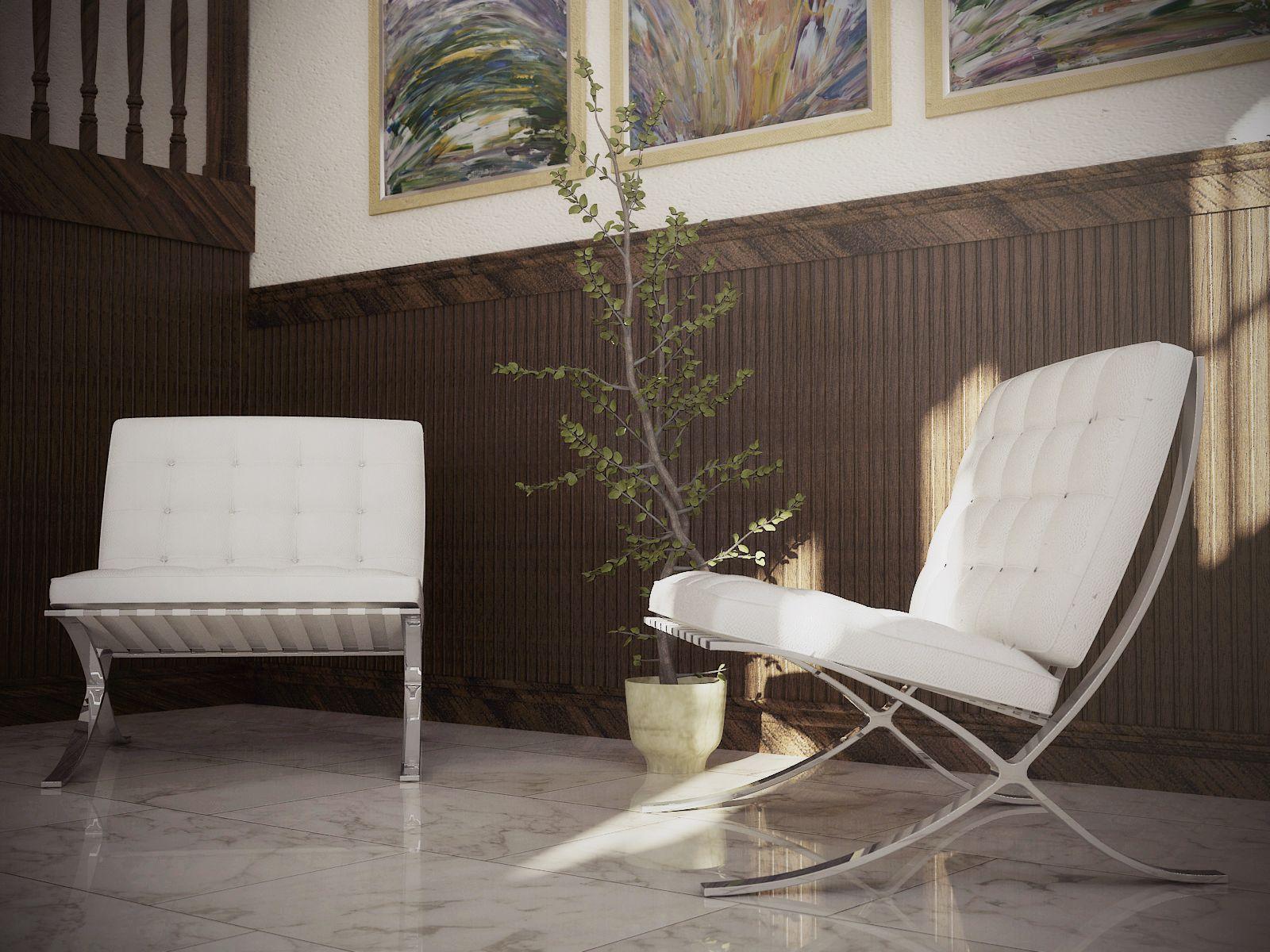 Manhattan Home Design Chair Ottoman Mid Century Furniture