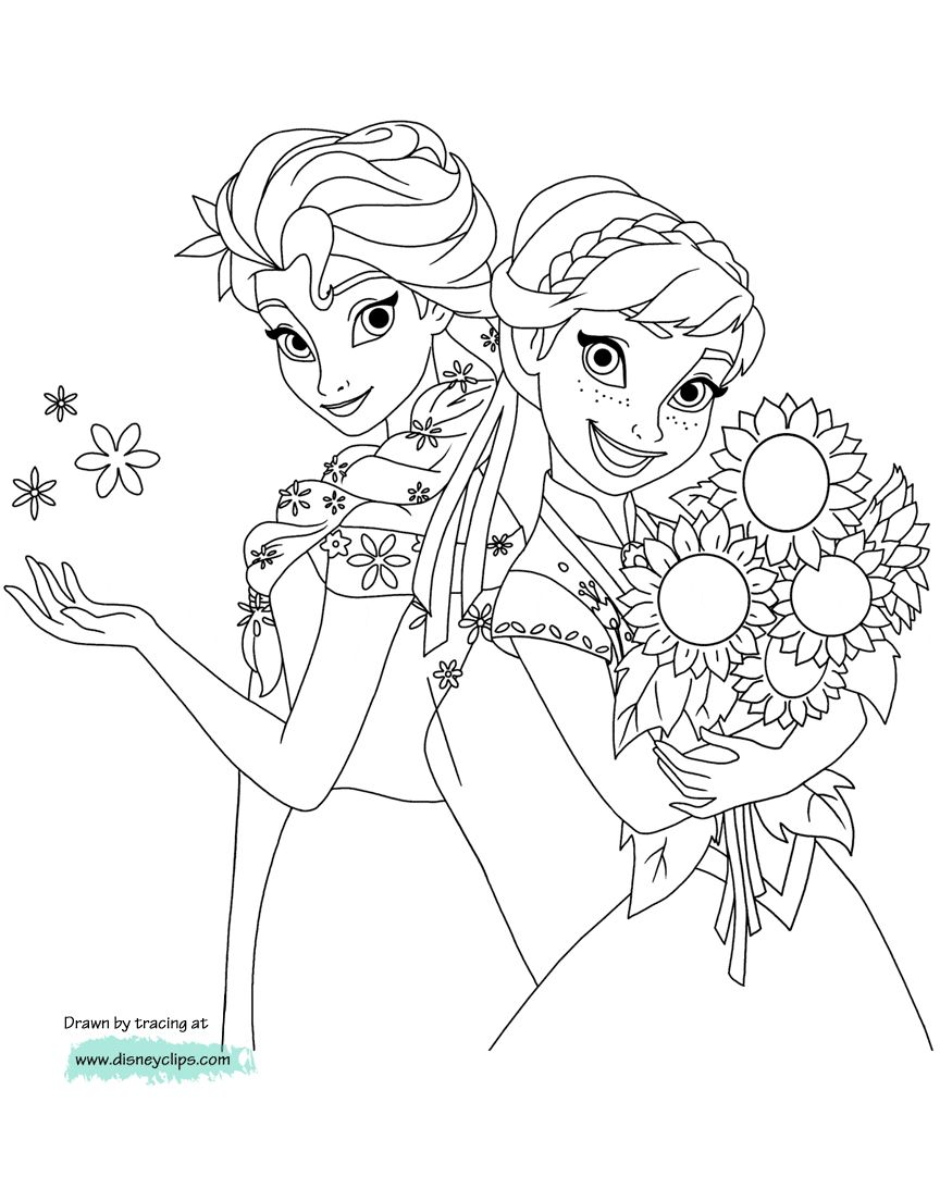 Anna And Elsa Coloring Pages Disneys Frozen Coloring Pages 2 Disneyclips Birijus Com Elsa Coloring Pages Frozen Coloring Frozen Coloring Pages