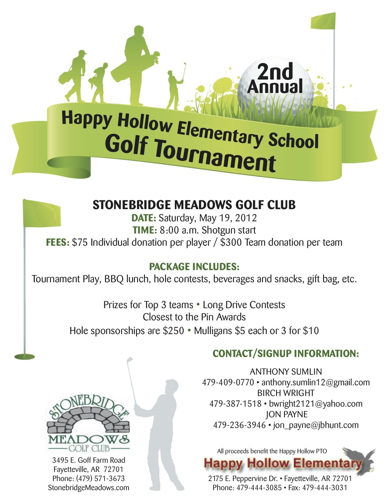 happy hollow elementary school golf tournament | july guest day
