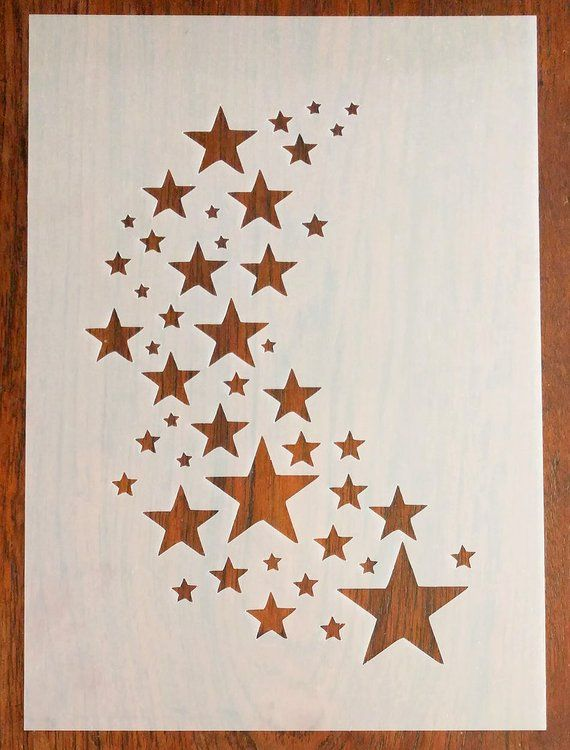 Stars Stencil Mask Reusable PP Sheet for Arts /& Crafts