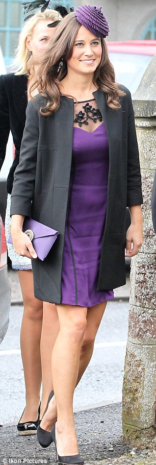 Pippa S In The Purple Sophie Pink Miss Dahl Towers Over Jamie On Day Of Society Weddings