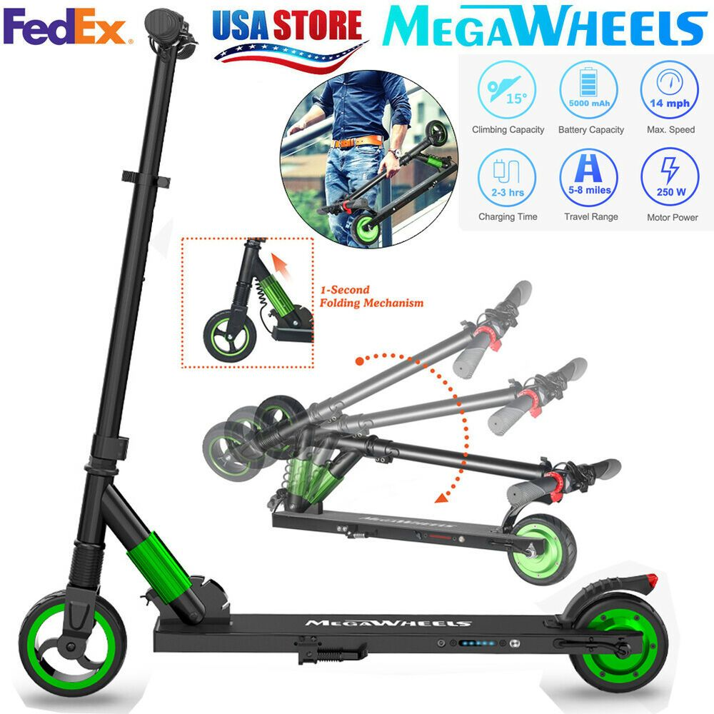Advertisement Ebay Megawheels S1 250w 23km H Folding Electric Scooters City Kick E Scooter Us Stock Folding Electric Scooter Electric Scooter E Scooter