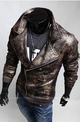 cc642fd1b9ee Faux Crocodile Leather Jacket