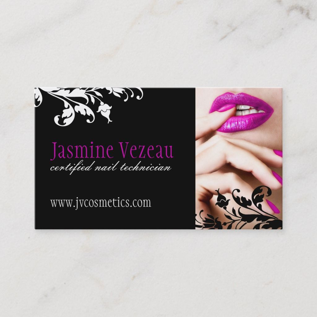 Nail Technician Business Cards Zazzle Com Nail Salon Business Cards Nail Tech Business Cards Nail Technician