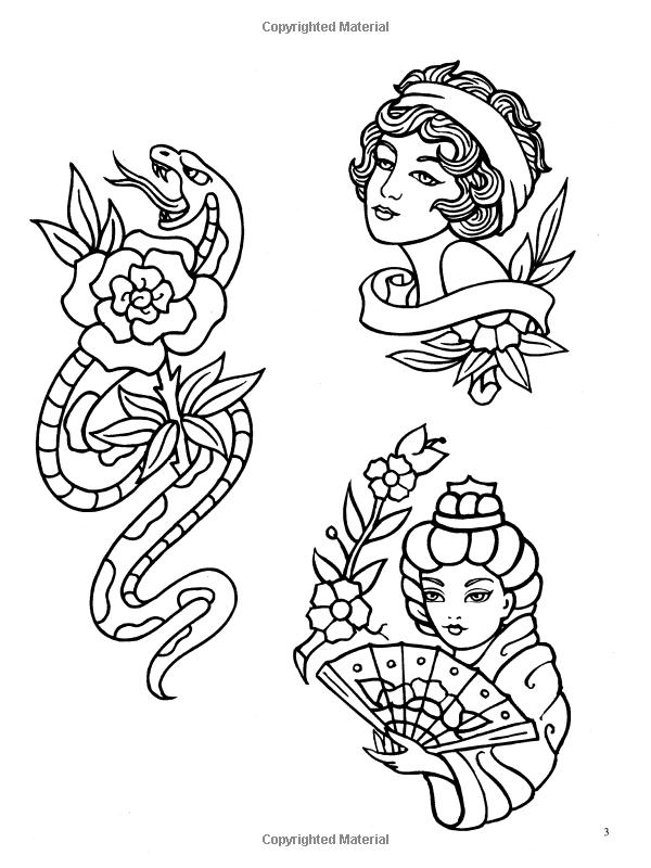 Classic Tattoo Designs Coloring Book Eric Gottesman