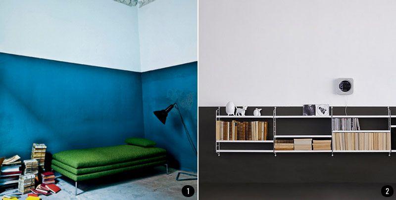 Pintar el sal n en dos colores aporta personalidad y for Gama de colores para interiores