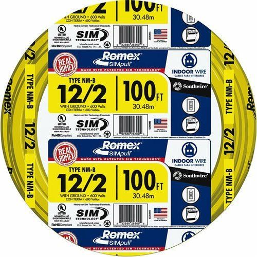 Romex® Indoor Copper Wire, 12 Gauge x100\' by Southwire. $67.99 ...