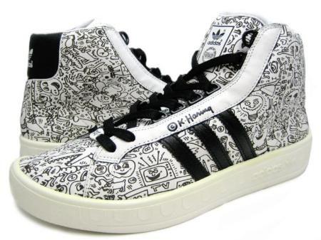 Adicolor High BK2 Adidas Keith Haring Jeremy Scott bca575ed59ee