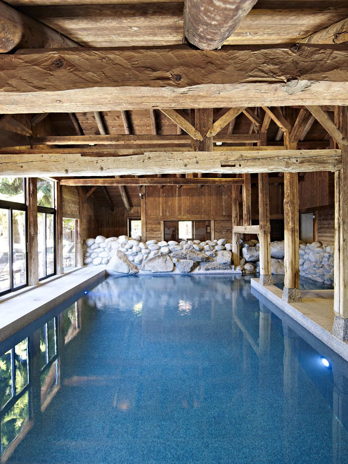 Les Fermes De Marie A Luxurious Family Oriented Indoor Swimming Pools Luxury Swimming Pools Indoor Pool Design