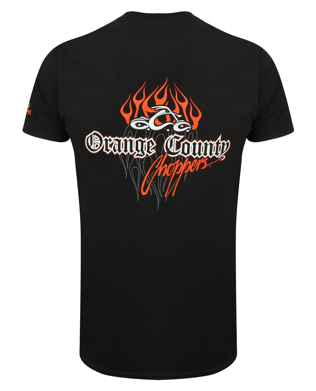 682d7e57 Pinstripe Flame OCC T-Shirt Front and Rear Print Orange County Choppers  logo on left sleeve Colour: Black 100% Cotton Official Orange County  Choppers ...
