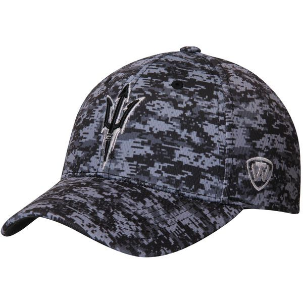 21eaa1906c1 Arizona State Sun Devils Top of the World Team Logo Adjustable Hat -  Digital Camo -