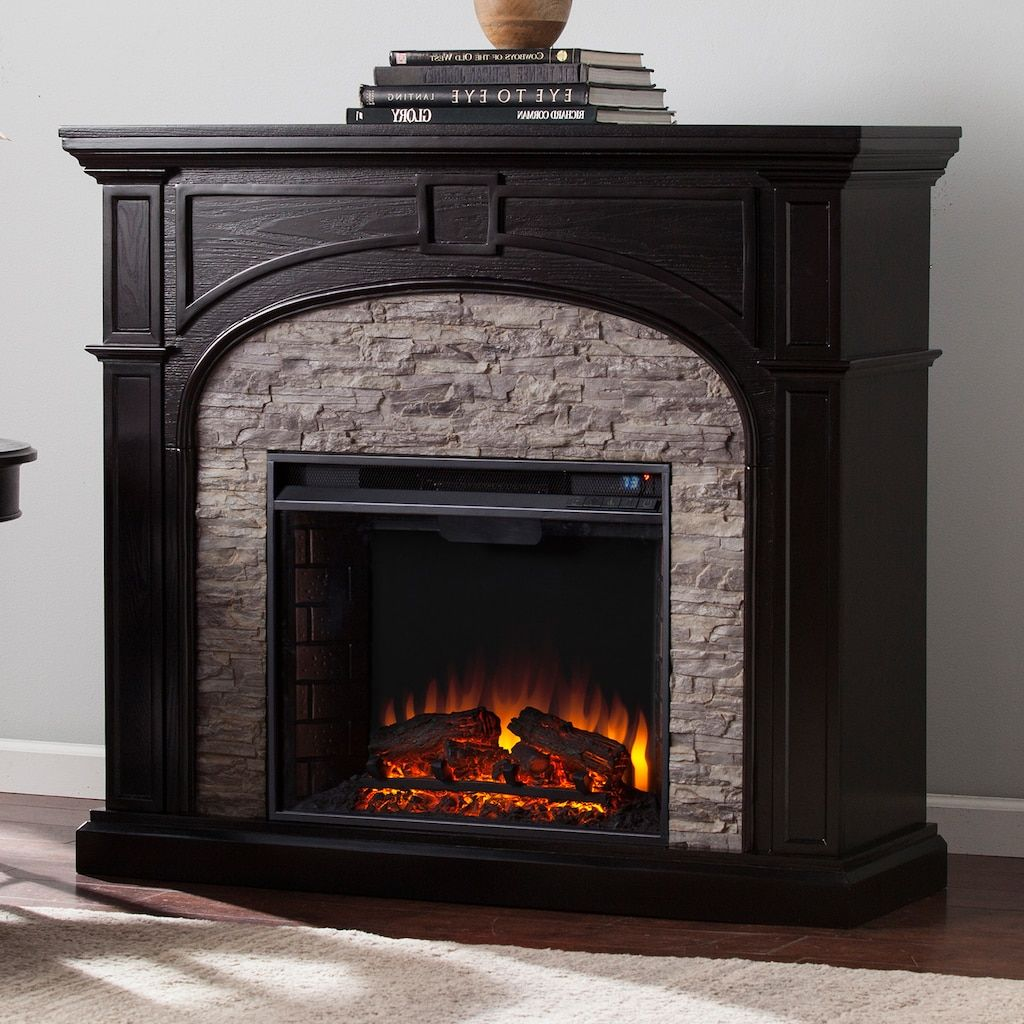Faux Stone Electric Fireplace Logs Amazing Design