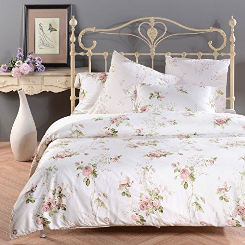 Amazon.com: Sisbay Romantic Rose Print Duvet Cover,Vintage