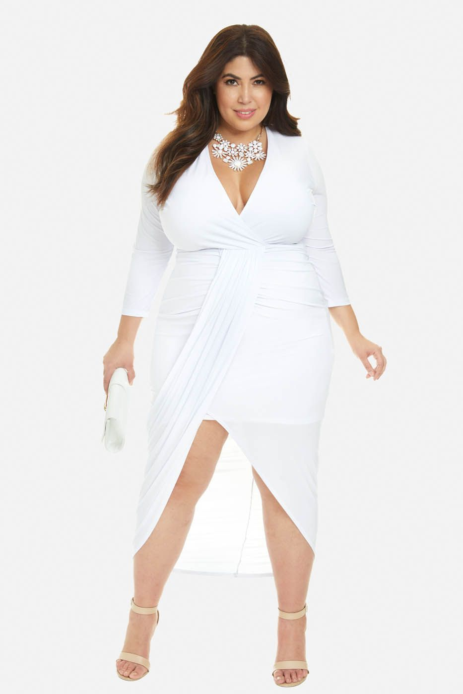 Plus Size Helena Draped Maxi Dress | Plus size in 2019 ...