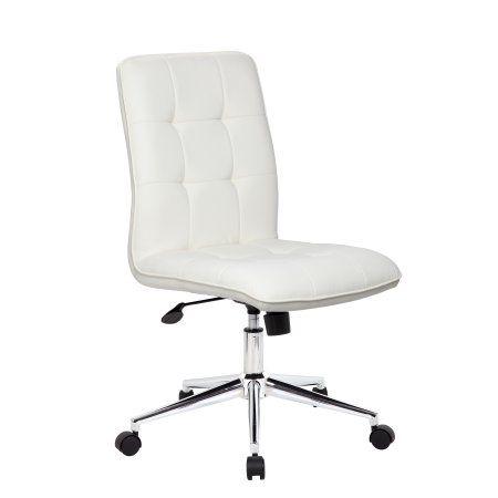 Boss Office Home Donna Modern Desk Chair Multiple Colors White