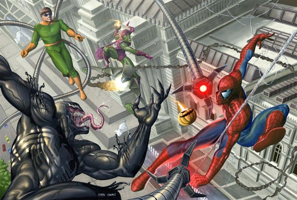 Гоблин и человек паук картинки
