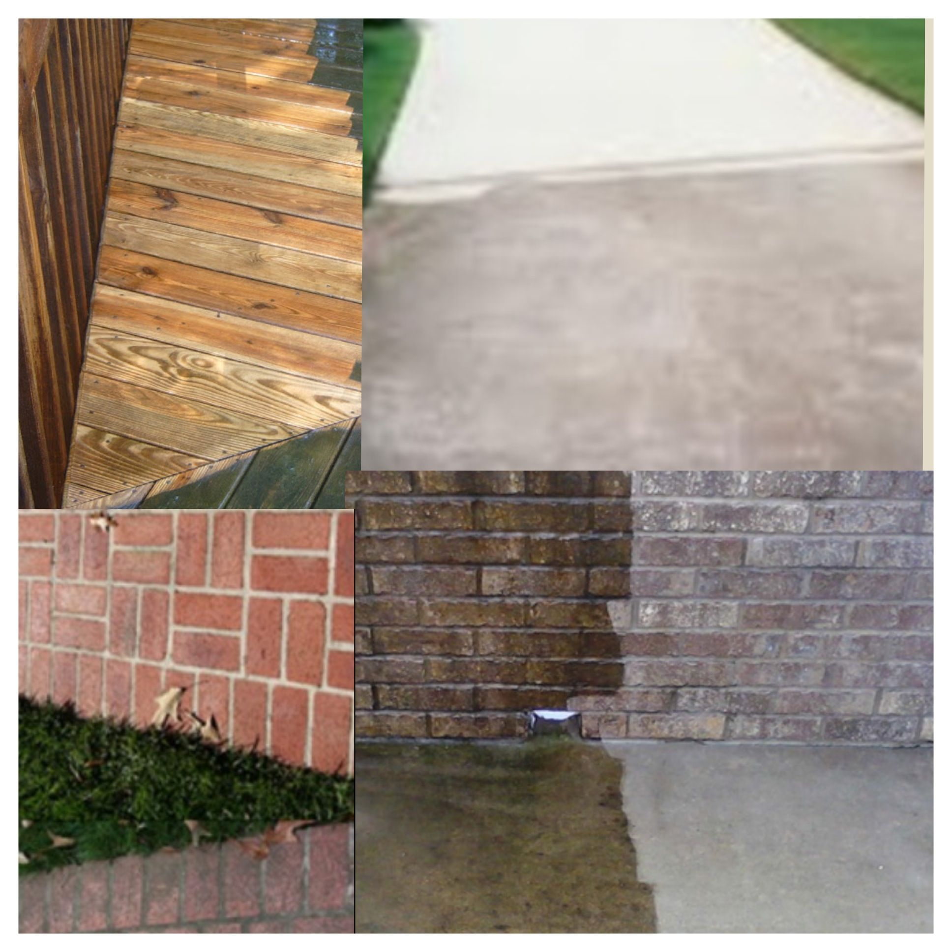 Before And After House Wash Washing Brick Pressure Deck