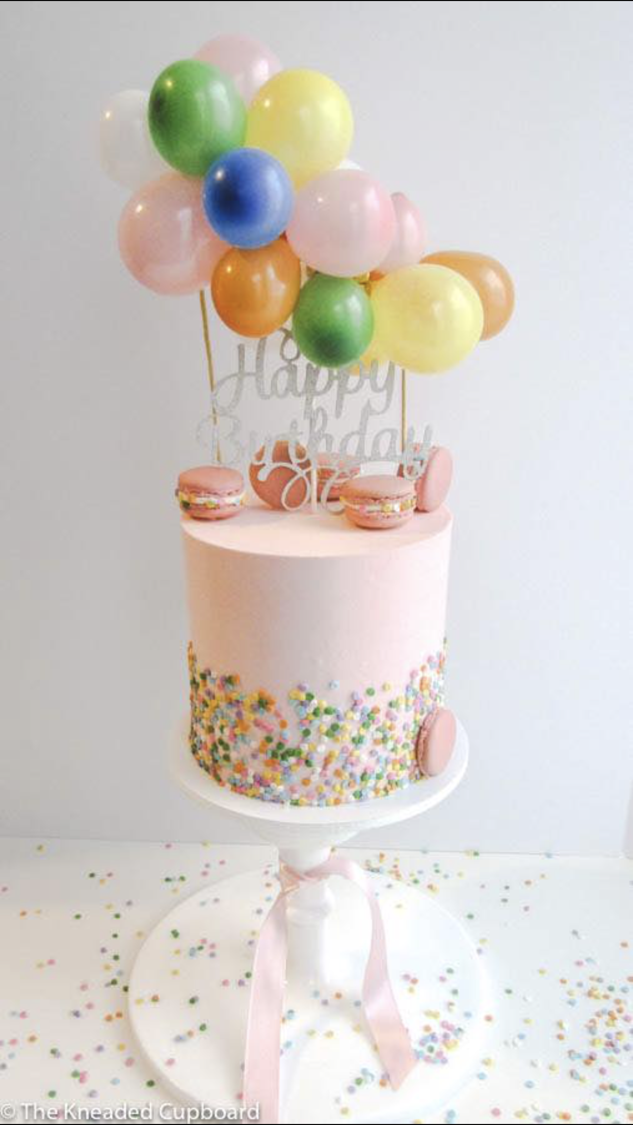 Fabulous Funfetti Cake With Balloons On Top Balloon Birthday Cakes Funny Birthday Cards Online Overcheapnameinfo