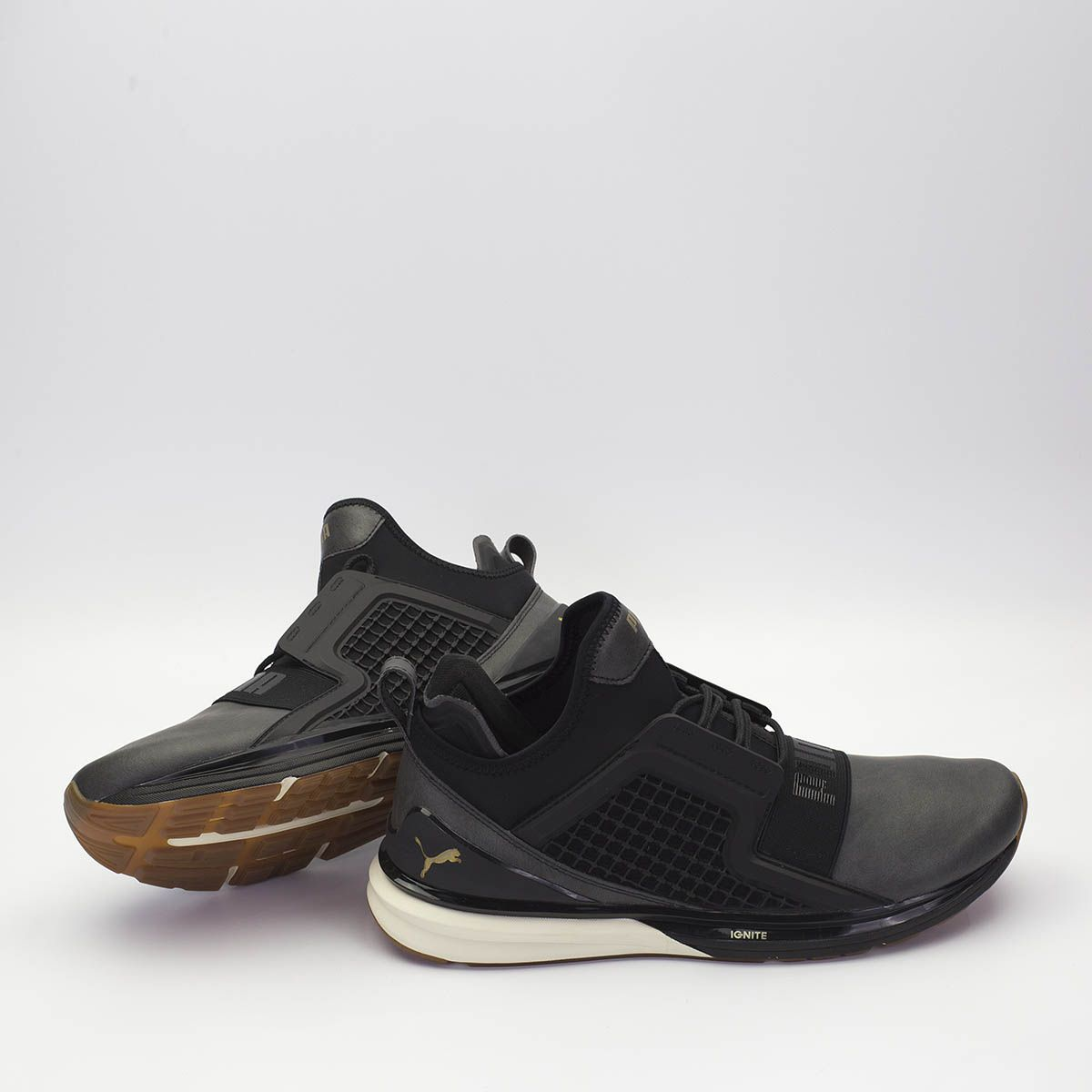 d1afb9f44035 PUMA IGNITE LIMITLESS LEATHER - ΜΑΥΡΟ