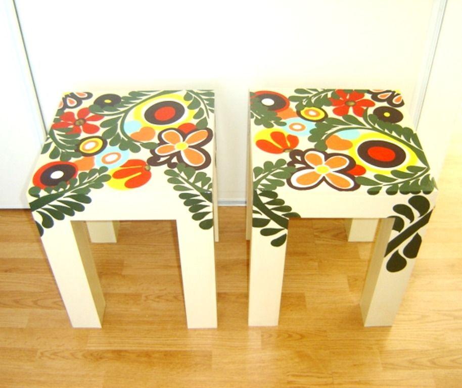 Mesa de arrime dressoire muebles pintados arte y diseno - Disenos muebles pintados ...