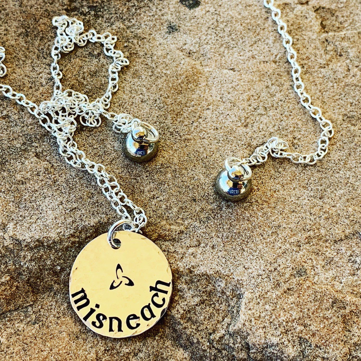 Courage in gaelic sterling silver misneach necklace