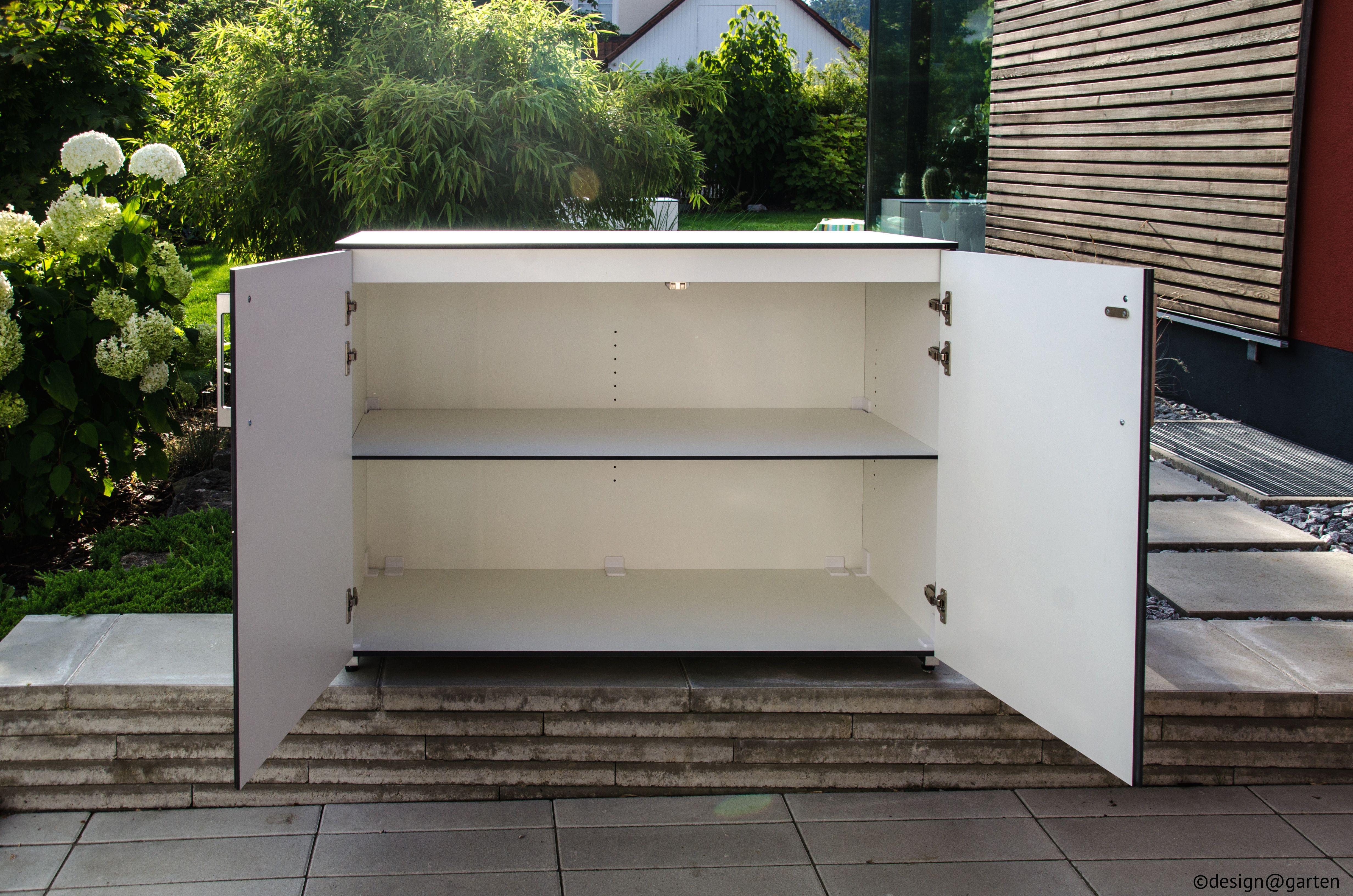 gartenschrank balkonschrank wetterfest regensicher von design arten in aug. Black Bedroom Furniture Sets. Home Design Ideas
