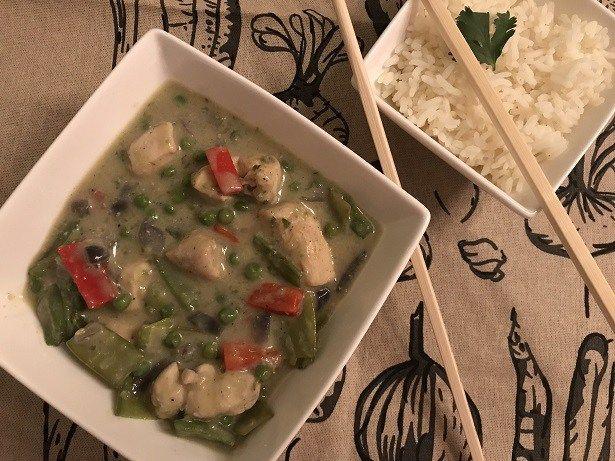 Thaise groene curry met kipfilet - Sophie Glutenvrij