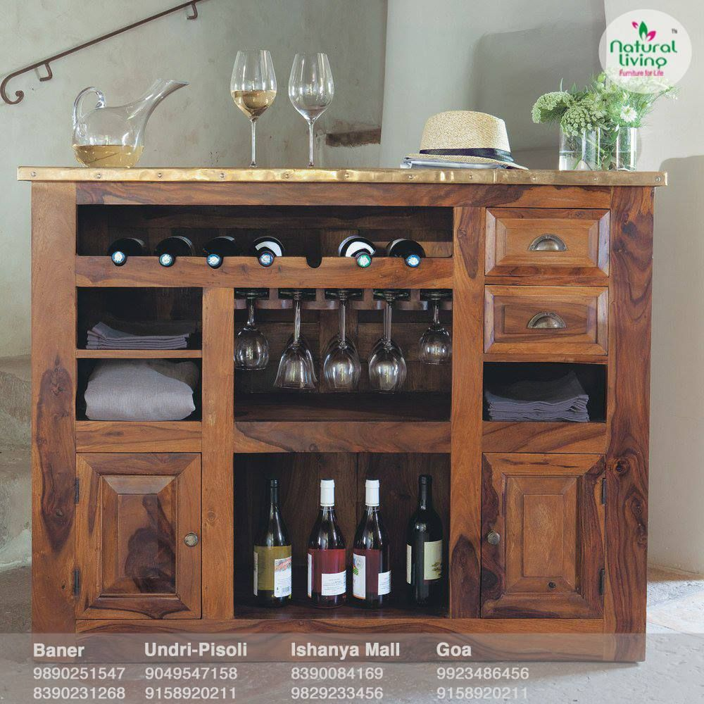 Ample storage space beautifully crafted sheesham bar for Ample storage